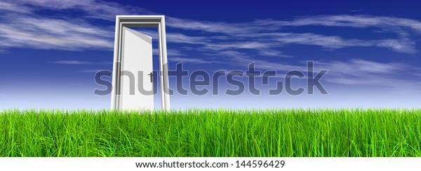 High Resolution Green Fresh Natural 3d Stock Illustration 144596429