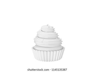 High resolution image cake. 3d rendered illustration.