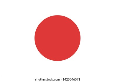 high resolution Japanese national flag of Japan, Asia