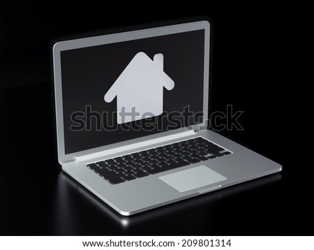 high resolution laptop home icon stock illustration 209801314