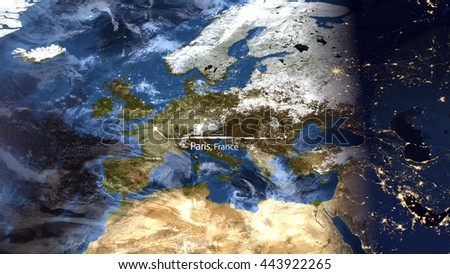 High Resolution Map Of Europe.High Resolution Map Composition Europe Pinpointing Stock
