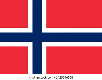 high resolution Norwegian national flag of Norway, Europe