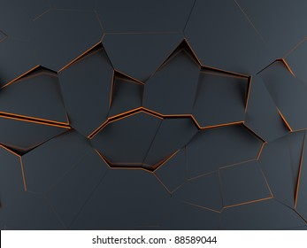 High resolution render of an abstract and modern Voronoi 3D diagram background