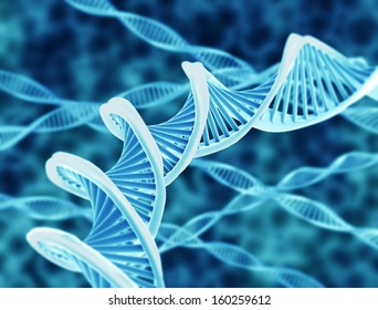 High resolution render of DNA double helix