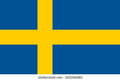 high resolution Swedish national flag of Sweden, Europe