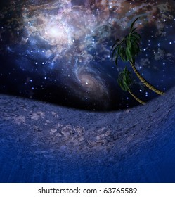 High Resolution Underwater Night Scene