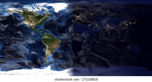 High Resolution World Map - Day & Night Compilation (Original maps provided by NASA)