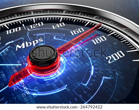 High speed internet connection concept