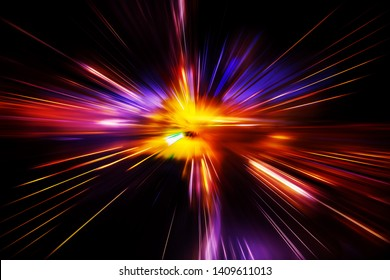 High speed technology concept, fast light abstract background