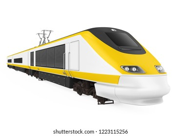 High Speed Train Isolated. 3D rendering