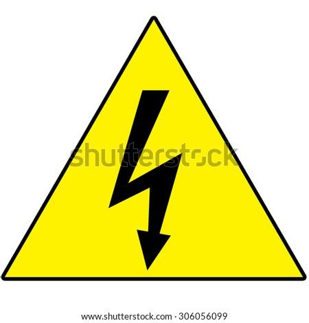 High Voltage Symbol Stock Illustration 306056099 Shutterstock
