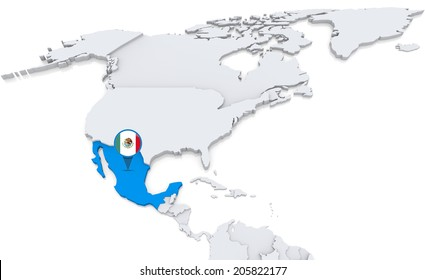 Highlighted cuba on map north america stock illustration 205822210 highlighted mexico on map of north america with national flag gumiabroncs Image collections