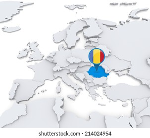Royalty Free Stock Illustration of Highlighted Germany On Map Europe ...