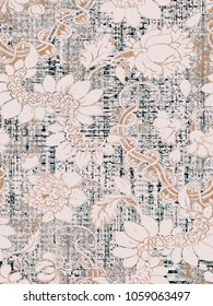 highly detailed abstract texture or grunge background. For art texture, modern  pattern for  vintage paper or border frame, carpet, rug,  scarf, clipboard , shawl
