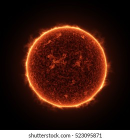 Highly Realistic Illustration of the Sun Star