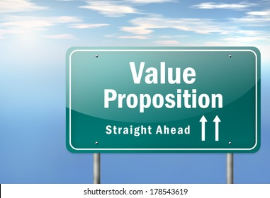 Highway Signpost with Value Proposition wording