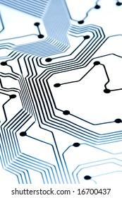 hi-key circuit board pattern with energy