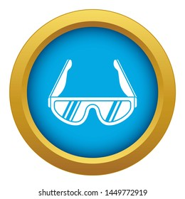 Hiking glasses icon blue isolated on white background for any design