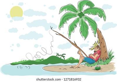 Hillbilly Beach Bum Also Known in Puerto Rico as Jibaro