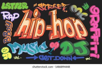 hiphop graffiti streetart rap song hiphop music graffiti art vandal mural type font typography graffiti hiphop b boy element hiphop