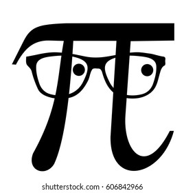 Hipster, The Greek letter pi with the glasses of a geek boy