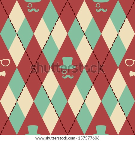 Hipster Knitted Pattern Stock Illustration 157577606 Shutterstock