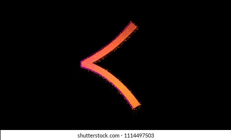 "Hiragana symbol ""Ku"". Isolated Japanese language icon on white background"
