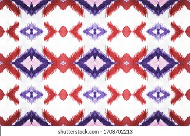 Hispanic Background. Native American Tile. Rustic Ornament. Oriental Pattern. Swimwear Stripe. Blue and white Woven Fabric. Guatemalan Fabric. Geo Optical Print.