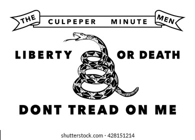 Historic Culpeper Minutemen flag, Authentic version