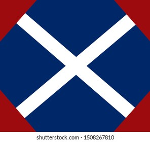 Historic Flag. US Civil War 1860's. Confederate Battle Flag. 39th North Carolina Infantry Regiment.