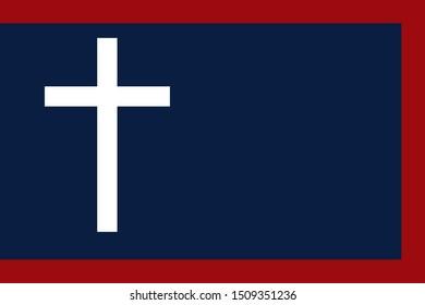 Historic Flag. US Civil War 1860's. Confederate States of America. 1st Missouri Cavalry.