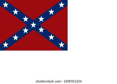 Historic Flag. US Civil War 1860's. Confederate States of America. 9th Arkansas Infantry regiment.