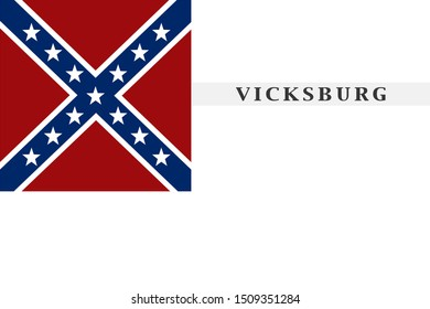 Historic Flag. US Civil War 1860's. Confederate States of America. Waul's Texas Legion.