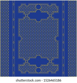 Historical book cover design with pattern
