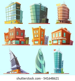 Historical and modern world most visited famous distinctive buildings icons set for tourists cartoon isolated  illustration
