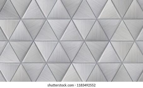 Hi-Tech Triangle Background (3D Illustration)