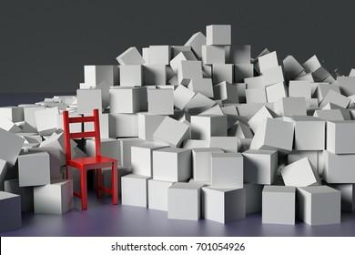 Hoarding disable illustration in 3d