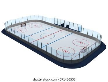 Hockey arena render