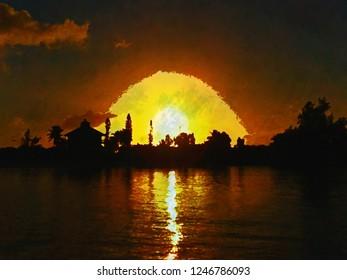 Hog Cay Sunset Texture