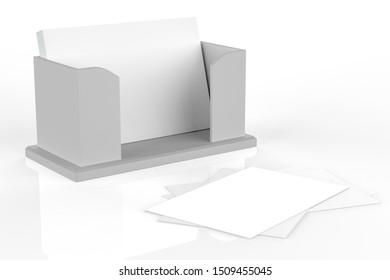 holder for flyer, brochure, booklet, business cards. 3d illustraion