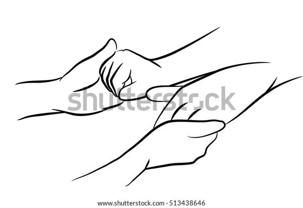 holding patient hands
