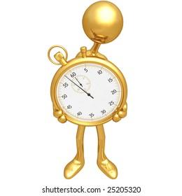 Holding A Stopwatch