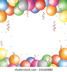 Holiday background with baloon border