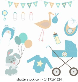 Holiday card design for Baby shower for boy