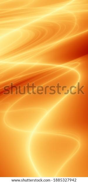 Holiday golden fluid art abstract wallpaper pattern