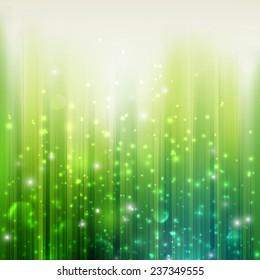 holiday green background with sparkles