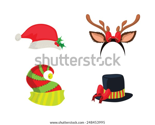 5093969d9 Holiday Hats Stock Illustration 248453995