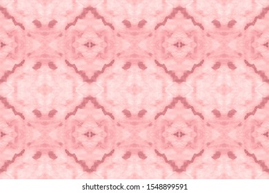 Holiday Magenta, Grey On Old Paper. Watercolor Pattern On Paper Texture. Smudges Pattern. Abstract Mediterranean Ethnic Decor. Tie Dye Seamless Pattern. Folklore Design.