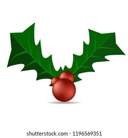 Holly berry. Christmas symbol
