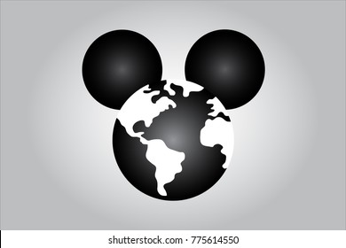 HOLLYWOOD, USA, 15 December 2017 - Idea illustrating world media domination by Disney following purchase of Murdoch Fox.